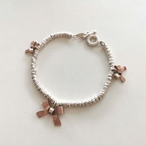 Roberto Mag Silver & Rose Bracelet Made in Italy